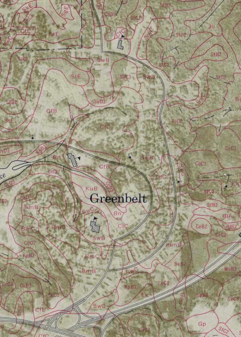 Greenbelt Soils Map
