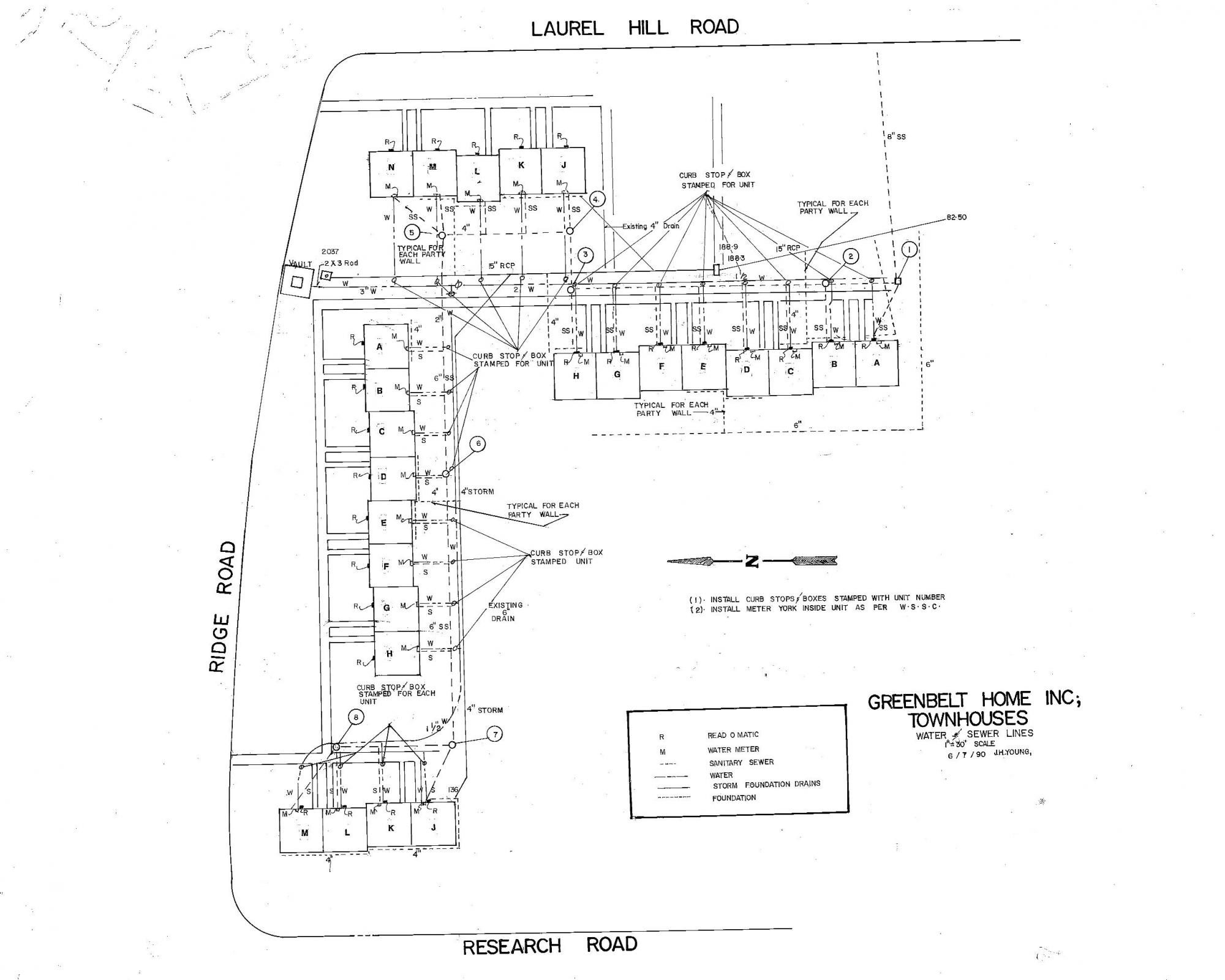GHI Underground Utilities: Water, Sewer, Storm - Townhouses